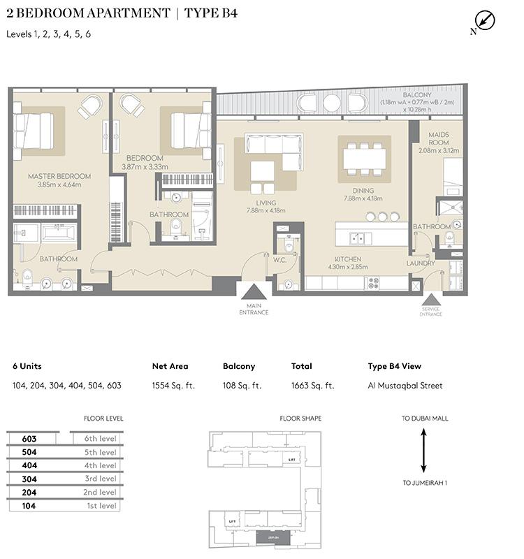 Floor Plans Meraas City Walk Apartments Residential Building 5 Dubai